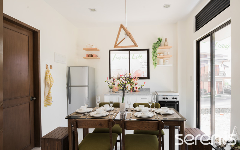 Single attached dining area
